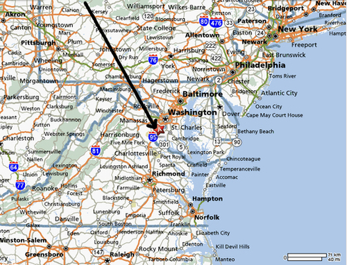 Domani TibetanTerriers About Us Location - Us mid atlantic region map
